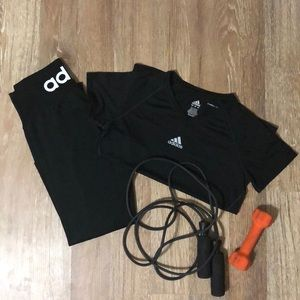 Women's adidas workout outfit
